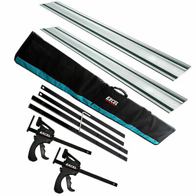 £130 • Buy 165mm Plunge Saw Accessories Kit 2 X 1500mm Guide Rail Connector Clamp Rail Bag