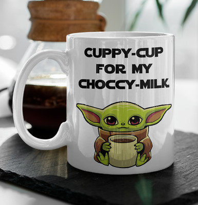 $14.95 • Buy BABY YODA COFFEE Mug Cuppy Cup For My Choccy Milk, The Mandalorian Star Wars Cup