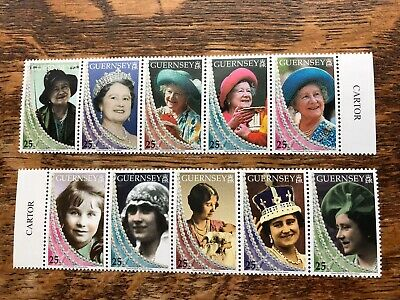 Guernsey 1999 Life And Times Of Queen Mother Stamps MNH • 2.60£