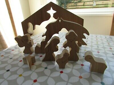 Nativity Scene Wooden Jigsaw 22x17cm, Hand Made In Wales RRP£22.50. Lovely! • 15£