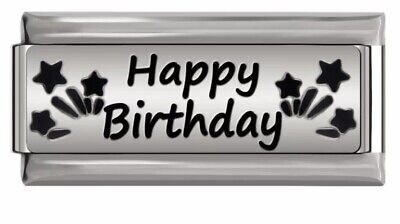 HAPPY BIRTHDAY -ITALIAN-Charm-Fits Nomination- NEW In Gift Pouch • 4.99£