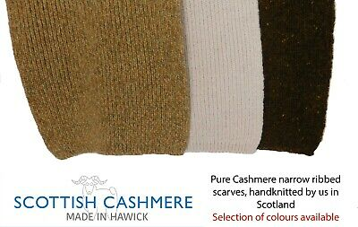 Pure Cashmere Scarf - Handknitted By Us In Hawick, Scotland • 26.95£