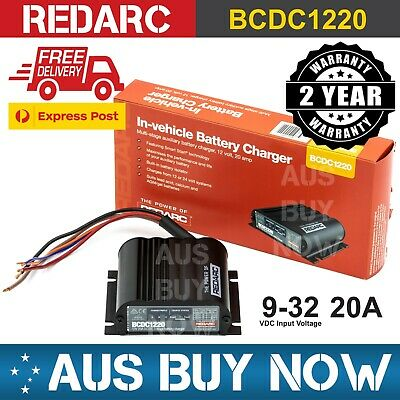 AU440 • Buy REDARC 12V 20A BCDC1220 DC IN-VEHICLE BATTERY CHARGER Car Dual Second AGM GEL