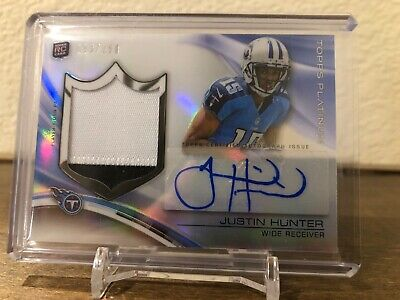 $0.99 • Buy Justin Hunter 2013 Topps Platinum Rpa Rookie 2 Color Patch Auto Rc #d 093/250