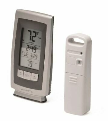 $17.99 • Buy AcuRite Wireless Digital Indoor Outdoor Sensor Weather Thermometer With Clock