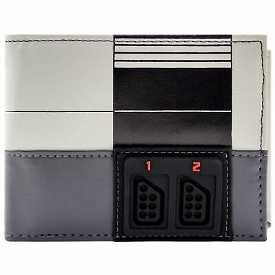 New Official Nes Console Front Panel Grey Coin & Card Tri-fold Wallet • 9.49£