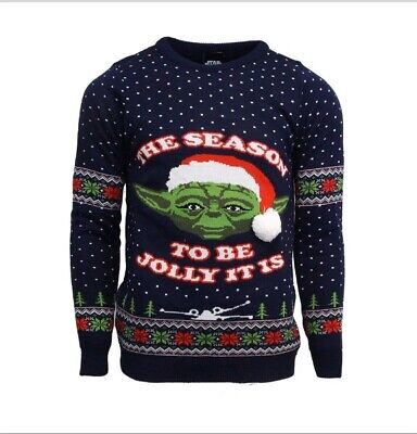 $41.67 • Buy Small Star Wars Yoda Ugly Christmas Xmas Jumper / Sweater By Numskull       Baby