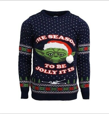 $42.90 • Buy Large Star Wars Yoda Ugly Christmas Xmas Jumper / Sweater By Numskull       Baby