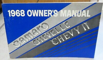 $3.99 • Buy 1968  Chevrolet Camaro,chevelle,chevy Ii   Owners Manual