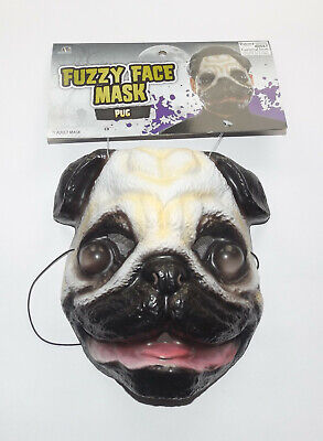 Masquerade Carnival Party Unisex Plastic Pug Animal Canine Dog Face Mask New • 4.50£