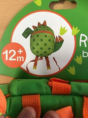 RedKite Toddlers Cute Dinosaur Back Pack With Detachable Walking Reins  • 11£