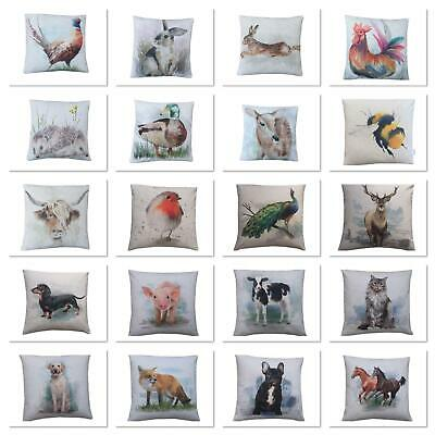 Handmade UK Large Print Farm Animals Multi Designs Christmas Gift Cushion Cover • 7.99£