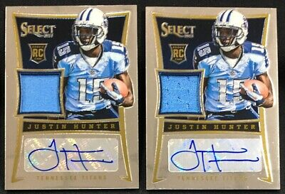 $1.99 • Buy Justin Hunter 2013 Panini Select RC Patch Auto /399 Titans Lot Of 2