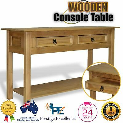AU287 • Buy Hall Table Wooden Hallway Side Console Entry Display 2 Drawer Furniture Shelf AU