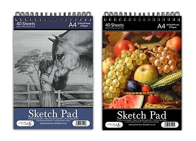 A4 Sketch Pad Spiral Book White Paper Artist Sketching Drawing Doodling ArtCraft • 3.99£