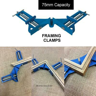 CLEARANCE LOT633969 CORNER CLAMPS FOR PICTURE FRAMING WOODWORK  CRAFTS 75mm Cap. • 4.35£