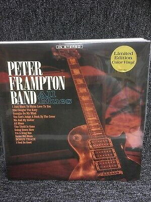 PETER FRAMPTON BAND - ALL BLUES - Blue Vinyl - Limited 2 Lp. New Sealed. • 17.99£