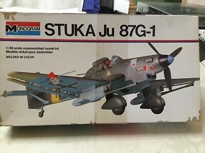 $10 • Buy Vintage 1/48 Stuka Ju 87G-1 Monogram Model Kit