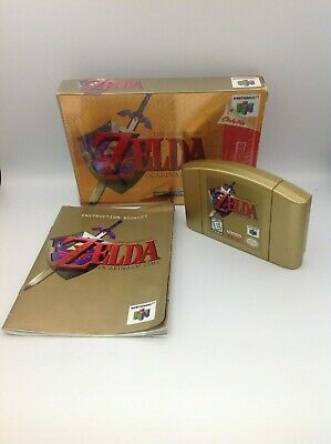 $83 • Buy Legend Of Zelda: Ocarina Of Time Gold Collector's Edition (N64) With Box, Manual