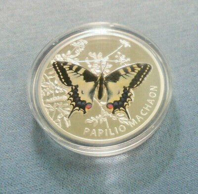 $59 • Buy 2011 Niue Island $1.00 Butterfly Papilio Machaon Silver Proof Coin