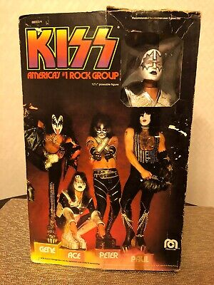 Kiss 1977 Vintage Ace Frehley Mego Doll / Figure In Box - Aucoin • 227.59£