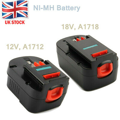 3000mAh Ni-MH Battery For Black & Decker 12V(A12 A1712 A12-XJ) , 18V (A18 A1718) • 18.86£