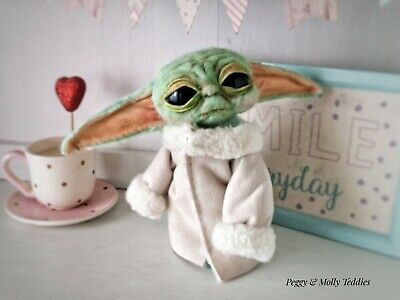 $100 • Buy Baby Yoda Inspired Poseable Plush Doll, Open And Close Eyes