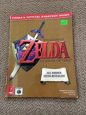 $22 • Buy Primas Official Strategy Guide Zelda Ocarina Of Time N64 Read Description