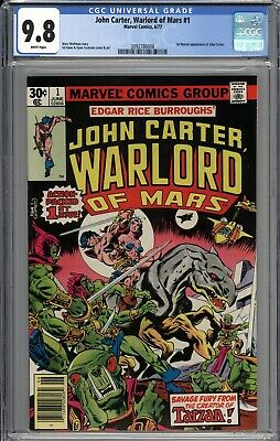 $28 • Buy John Carter Warlord Of Mars #1 CGC 9.8 NM/MT 1st Marvel Appearance WHITE PAGES