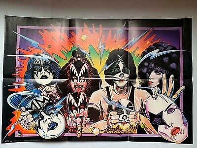 $30 • Buy VINTAGE - KISS Unmasked Poster 1980 Aucoin - 33 X 22
