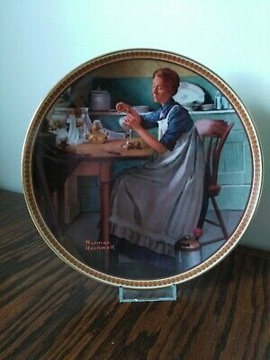 $ CDN29.93 • Buy 'Working In The Kitchen' Norman Rockwell Knowles Collector Plate, Free Shipping!