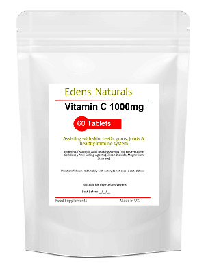 Vitamin C 1000mg Ascorbic Acid Immune Health Antioxidant  High Strength 60 Tabs • 3.99£