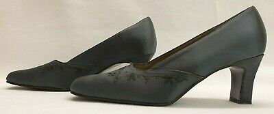 K By CLARKS Ladies Womens Shoes Size UK 5 EU 38 Grey Satin Floral Wedding Wide • 18.89£