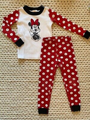 $15.99 • Buy Hanna Andersson Minnie Mouse Long Johns Pajamas - Perfect! - 100 (us 4)