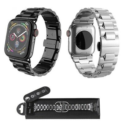 $ CDN103.52 • Buy Stainless Steel Strap For Apple Watch Series 2 3 4 5 Butterfly Buckle Watchband