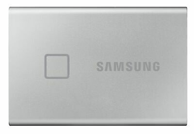 AU272.95 • Buy Samsung External Portable Solid State Drive SSD T7 TOUCH Silver 500GB USB 3.2