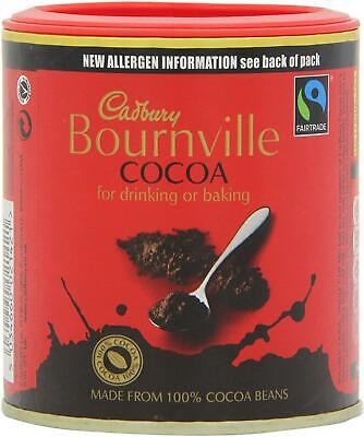 Cadbury Bournville Cocoa Powder 125g –Pack Of 1, 2, 6 Or 12–Baking, Hot Drinking • 9.86£
