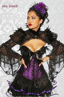 £89.64 • Buy Sexy Set Burlesque Skirt + Corset Feathers S,M,L (40,42, 44) Glamor