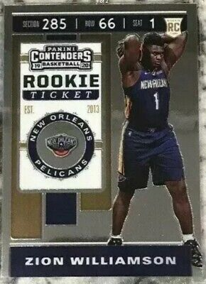 $6.50 • Buy 2018-19 Panini Contenders Zion Williamson Premium Edition Prizm Rookie Ticket Sp