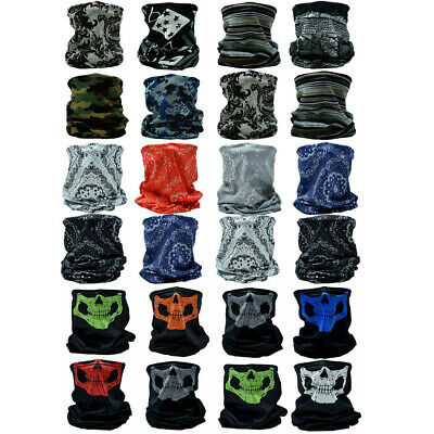 $9.88 • Buy 3-12Pcs Tube Scarf Neck Gaiter Bandana Head Face Mask Multi-use For Outdoor Cap