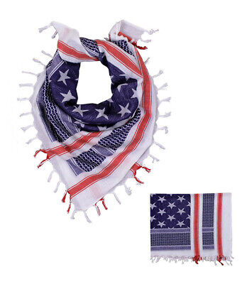 $10.50 • Buy Military Shemagh Arab Tactical Desert Keffiyeh Scarf Face Mask - RED WHITE BLUE