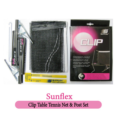 AU23.99 • Buy Table Tennis Net & Post Sunflex Clip Set Ideal Fro Regular Usage Compact