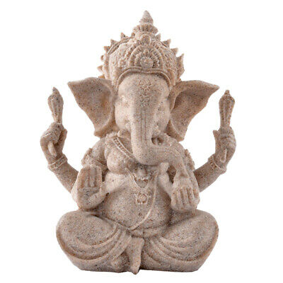 Handmade Seated Ganesh Deity Hindu Buddha Statue Figurine Office Decoration • 7.93£