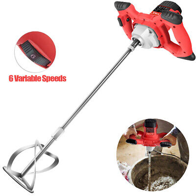 £54.99 • Buy 2100W Electric Plaster Paddle Mixer Mortar Paint Cement Stirrer Whisk 6 Speed UK
