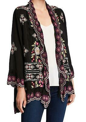 $119.99 • Buy 💕$352 Johnny Was Lena Embroidered Black Kimono Jacket 1x Beautiful Last One! 💕