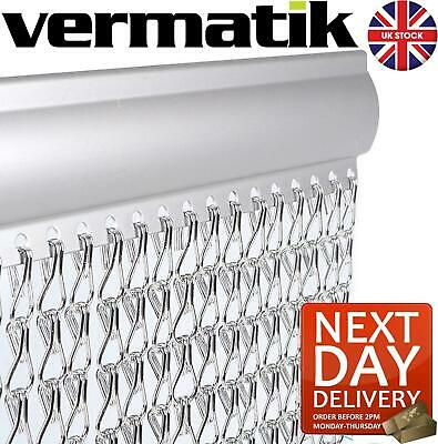 Genuine Vermatik® Metal Fly Screen Door Curtain Aluminium Chain Outdoor  • 59.95£
