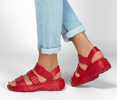 Skechers NEW Cali Gear D'Lites 2.0 Style Icon Red Comfort Fashion Sandals Sz 3-8 • 38.99£