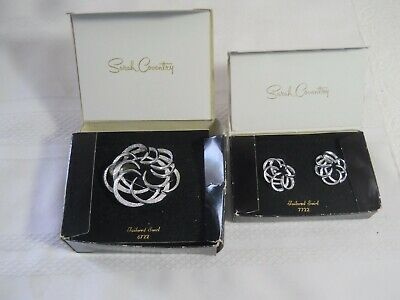 $1.98 • Buy Vintage Matching Set Of Sarah Coventry Costume Jewelry Brooch & Clip On Earrings