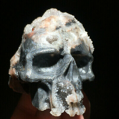 $0.99 • Buy Awesome QUARTZ ROCK CRYS Carved Crystal Skull, Realistic, Healing D24