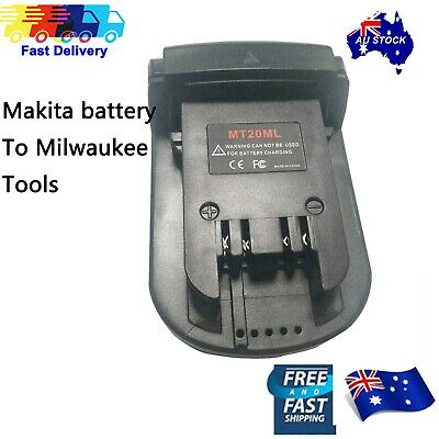 AU28.99 • Buy Battery Convert Adapter For Makita 18V Battery To Milwaukee 18V M18 Tools AU